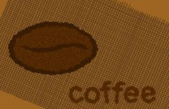 Coffee theme background Royalty Free Stock Images