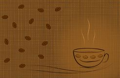 Coffee theme background - cdr format Royalty Free Stock Photos
