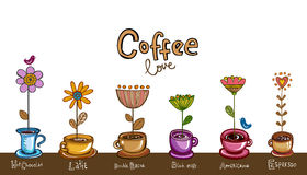 Coffee theme Background Stock Image