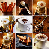 Coffee theme collageof images Stock Photo