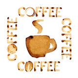 Coffee theme design Royalty Free Stock Images