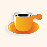 Coffee theme elements vector,eps Royalty Free Stock Photography