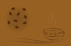 Coffee Theme Illustration - Cdr Format Royalty Free Stock Photography