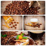 Coffee theme set. Several photoes on coffee theme royalty free stock images