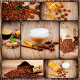 Coffee theme set. Several photoes on coffee theme stock photography