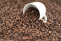 Coffee themed background composition Royalty Free Stock Photography