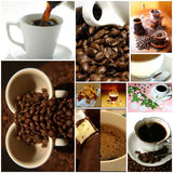 Coffee themed collage. Relax Stock Images