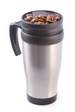 Coffee thermos mug Stock Photography