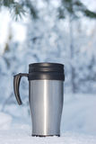 Coffee thermos mug Royalty Free Stock Photos