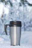 Coffee thermos mug Royalty Free Stock Photos