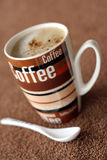 Coffee time. Picture of a brown coffee mug Royalty Free Stock Photos