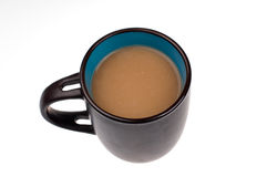 Coffee time. Coffee cup on a white background Stock Photos