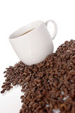 Coffee time. Coffee cup beans drink royalty free stock photo