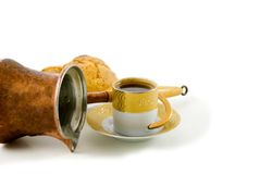 Coffee Time.. Coffee pot isolated on white background Royalty Free Stock Photo