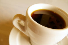 Coffee time. Coffee cup with coffee with shallow dof stock photo