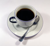Coffee time. Cup of coffee over white Royalty Free Stock Image
