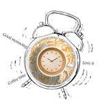 Coffee time alarm vector illustration