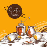 Coffee time background poster Stock Image