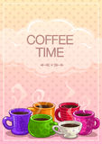Coffee time banner Royalty Free Stock Photography