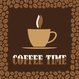 Coffee Time or Break Design Card. Coffee Time or Break Concept Design Card Stock Illustration