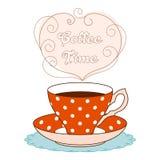Coffee time card Stock Photo