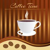 Coffee time card Royalty Free Stock Image