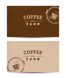 Coffee time cards Stock Photography