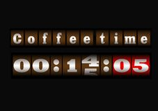 Coffee Time Clock Royalty Free Stock Photography
