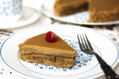 Coffee Time with Coffee Cake and a cup Royalty Free Stock Image