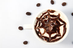 Coffee time concept. And beans Royalty Free Stock Photos