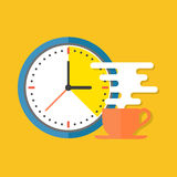 Coffee time concept. Flat design stylish. Stock Photography