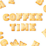 Coffee time cookie font. Royalty Free Stock Photo