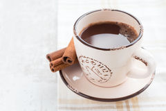 Coffee time. Coffee cup with clock face Stock Photography