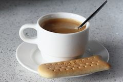 Coffee time. Cup coffee with cookies Royalty Free Stock Photos