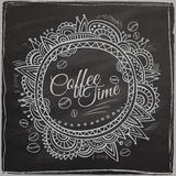 Coffee time decorative border Stock Photography