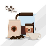Coffee time design. Coffee concept with icon design, vector illustration 10 eps graphic Royalty Free Stock Images