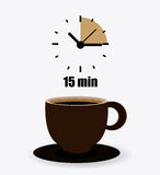 Coffee time design. Coffee time design over white background, illustration vector illustration