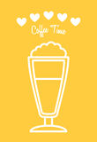 Coffee time. Design, vector illustration eps10 graphic Stock Image