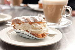 Coffee time with dessert... Royalty Free Stock Photo