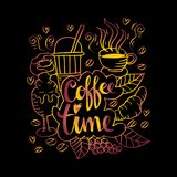 Coffee time. Doodle of Coffee time illustration Royalty Free Stock Photo