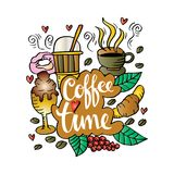 Coffee time. Doodle of Coffee time illustration Stock Image