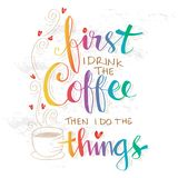 Coffee time. Doodle of Coffee time illustration Royalty Free Stock Photography