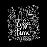 Coffee time. Doodle of Coffee time illustration Stock Photos