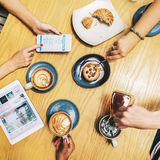 Coffee Time Friends Socialize Enjoyment Concept.  Royalty Free Stock Photos