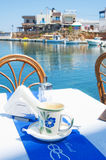 Coffee time Greek style. Royalty Free Stock Images