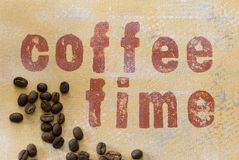 Coffee time grunge background Stock Photography