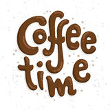 Coffee time! Hand lettered coffee quote. Vector illustration Stock Photo