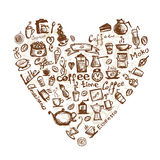 Coffee time, heart shape for your design Stock Photo