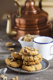 Coffee Time with homemade Walnut Chili Cookies Royalty Free Stock Photos