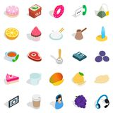 Coffee time icons set, isometric style Royalty Free Stock Image